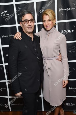 Jason Weinberg and Jessica Seinfeld attend the New York Fatherhood Lunch to benefit the Good+ Foundation at The Palm Tribeca, in New York