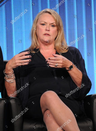 """Executive producer Trish Kinane participateS in FOX's """"American Idol XIII"""" panel at the FOX Winter TCA Press Tour, on at the Langham Huntington, in Pasadena, Calif"""