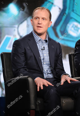 "Executive producer Eric Shanks participates in FOX Sports' ""Super Bowl XLVIII"" panel at the FOX Winter TCA Press Tour, on at the Langham Huntington, in Pasadena, Calif"