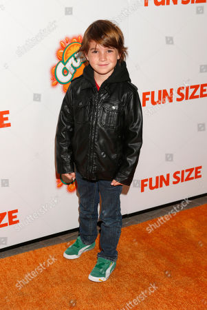 """Aiden Lovekamp attends the """"Fun Size"""" Los Angeles Premiere at Paramount Studios on in Los Angeles, California"""