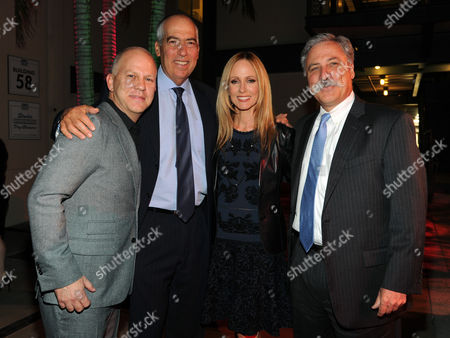 From left, Executive Producer Ryan Murphy, Gary Newman, Chairman of 20th Century Fox Television, Dana Walden, Chairman of 20th Century Fox Television, and Chase Carey, President, COO and Deputy Chairman of News Corporation, attend the 2013 Benefit Gala Honoring FX Networks with the Paley Prize for Innovation and Excellence on in Los Angeles