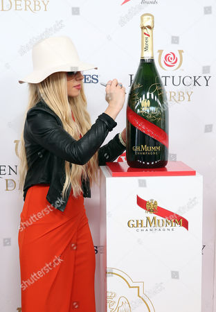 Editorial picture of G.H. Mumm Champagne at the 2016 Kentucky Derby, Louisville, USA