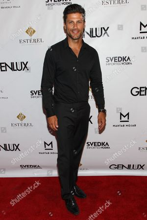 Actor Greg Vaughan arrives at the Genlux Magazine's new issue release party at the Sofitel on in Los Angeles