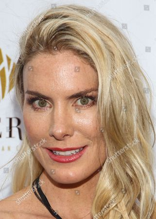 Actress Kelly Greyson arrives at the Genlux Magazine's new issue release party at the Sofitel on in Los Angeles