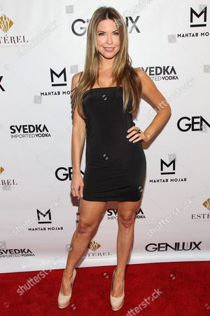 Actress Nicole Andrews arrives at the Genlux Magazine's new issue release party at the Sofitel on in Los Angeles