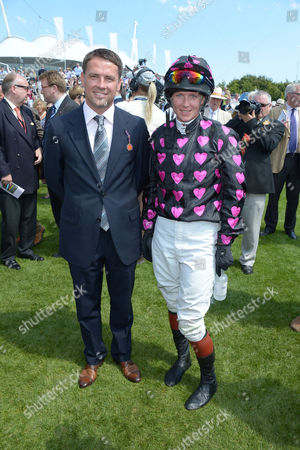 Michael Owen; Philippa Holland are seen at Glorious Goodwood, Ladies Day, on Thursday, August 1st, 2013 in London