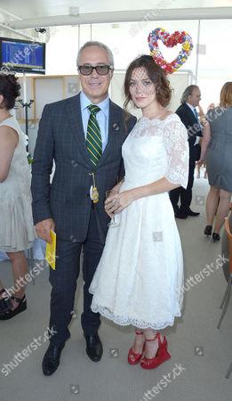 Anna Friel, Jon Zammett are seen at Glorious Goodwood, Ladies Day, on Thursday, August 1st, 2013 in London