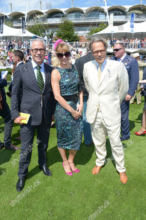 Audi UK Head of PR Jon Zammett, Darcey Bussell and Lord Charles March are seen at Glorious Goodwood, Ladies Day, on Thursday, August 1st, 2013 in London