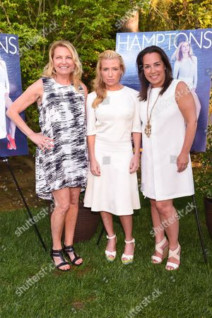 Tracy Anderson, center, Samantha Yanks, right, and Debra Halpert attend Hamptons Magazine Memorial Day Soiree celebrating cover star Tracy Anderson, in Southampton