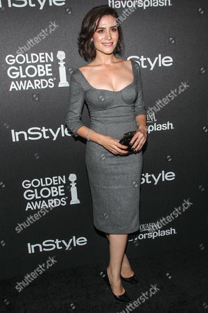 Stock Photo of Actress Belcim Bilgin arrives at the Hollywood Foreign Press Association's celebration of the 2014 Golden Globe Award Season at the Fig & Olive on in West Hollywood, Calif