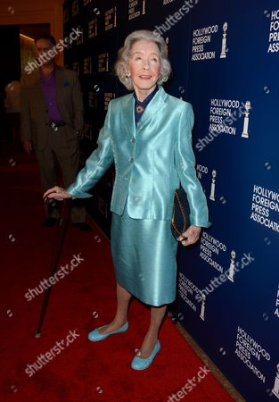 Marsha Hunt arrives at the Hollywood Foreign Press Association Luncheon at the Beverly Hilton Hotel, in Beverly Hills, Calif