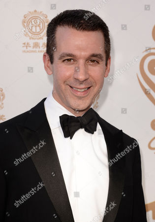 Stock Picture of Charlie Haykel arrives at the Huading Film Awards at the Ricardo Montalban Theater, in Hollywood, Calif