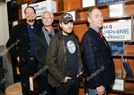 'Director's Cut'? cast members, left to right, Penn Jillette, Harry Hamlin, director Adam Rifkin and Teller line up at the Indiewire Photo Studio at Chase Sapphire on Main during the 2016 Sundance Film Festival, in Park City, Utah