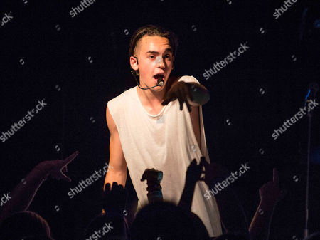 Alex Angelo performs during the Jake Miller: Dazed & Confused Tour at The Loft, in Atlanta