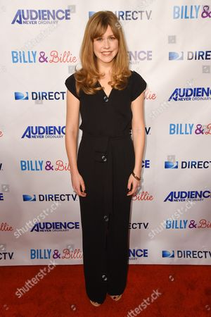 """Lisa Joyce arrives at the premiere of """"Billy & Billie"""" at The Lot, in West Hollywood, Calif"""