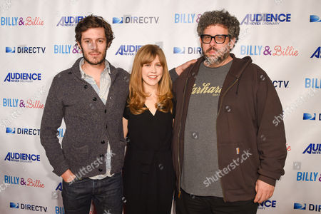 "Adam Brody, from left, Lisa Joyce and Neil Labute arrive at the premiere of ""Billy & Billie"" at The Lot, in West Hollywood, Calif"
