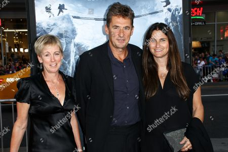 "Producer Nicky Kentish Barnes, from left, Producer Tim Bevan and Executive Producer Liza Chasin attend the LA Premiere of ""Everest"" held at the TCL Chinese Theatre IMAX, in Los Angeles"