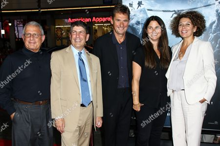 "Ron Meyer, from left, Jeff Shell, Tim Bevan, Liza Chasin and Donna Langley attend the LA Premiere of ""Everest"" held at the TCL Chinese Theatre IMAX, in Los Angeles"