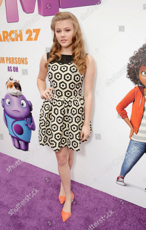 "Kerri Medders attends the Los Angeles Premiere of ""Home"" at the Regency Village Theatre, in Westwood, Calif"