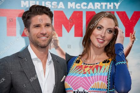"Kyle Martino, left, and Eva Amurri arrive at the LA Premiere of ""Tammy"" held at TCL Chinese Theatre, in Los Angeles"