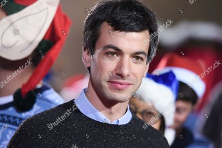 """Nathan Fielder attends the LA Premiere of """"The Night Before"""" held at The Theatre at Ace Hotel, in Los Angeles"""