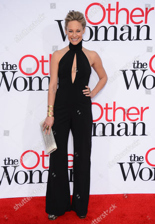 """Alyshia Ochse arrives at the Los Angeles premiere of """"The Other Woman"""" at Regency Village Westwood on"""