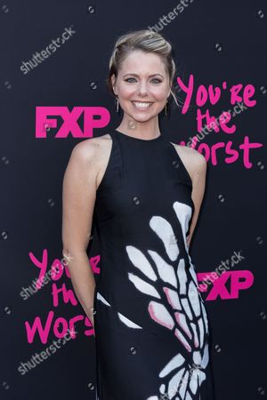 """Stock Image of Collette Wolfe arrives at the LA Premiere of """"You're the Worst"""" Season Three at the Neuehouse Hollywood, in Los Angeles"""