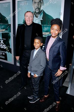 "Author James Patterson and actors Yara Shahidi and Sayeed Shahidi attend the LA premiere of ""Alex Cross"" at the ArcLight Cinerama dome on in Los Angeles"
