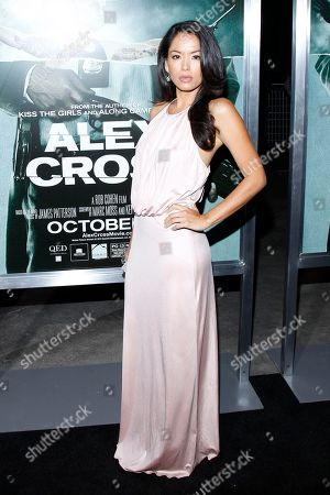 """Actress Stephanie Jacobsen attends the LA premiere of """"Alex Cross"""" at the ArcLight Cinerama dome on in Los Angeles"""
