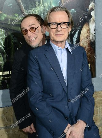 """John Kassir, left, and Bill Nighy arrive at the LA premiere of """"Jack the Giant Slayer"""" at The TCL Chinese Theatre on in Los Angeles"""