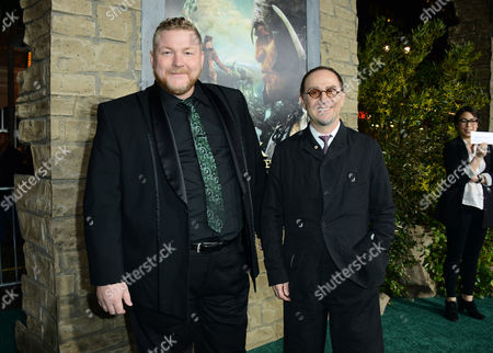 """Dan Studney, left, and John Kassir arrive at the LA premiere of """"Jack the Giant Slayer"""" at The TCL Chinese Theatre on in Los Angeles"""