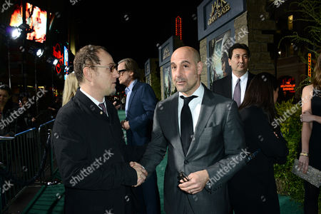"""John Kassir, left, and Stanley Tucci arrive at the LA premiere of """"Jack the Giant Slayer"""" at The TCL Chinese Theatre on in Los Angeles"""