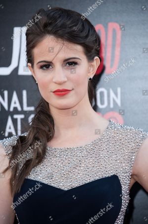 "Amelia Rose Blaire arrives at the Los Angeles premiere of the 7th and final season of ""True Blood"" at the TCL Chinese Theatre on"