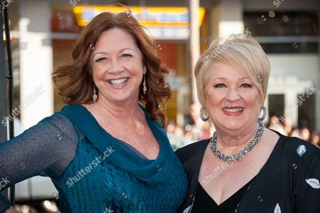 """Stock Photo of Dale Raoul, left, and Patricia Bethune arrive at the Los Angeles premiere of the 7th and final season of """"True Blood"""" at the TCL Chinese Theatre on"""