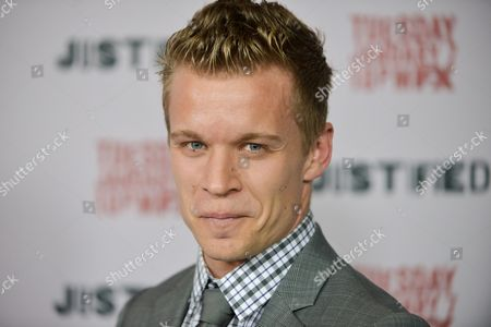 """Stock Image of Jesse Luken arrives at the LA Premiere Screening of """"Justified"""" at the Directors Guild of America on in Los Angeles"""