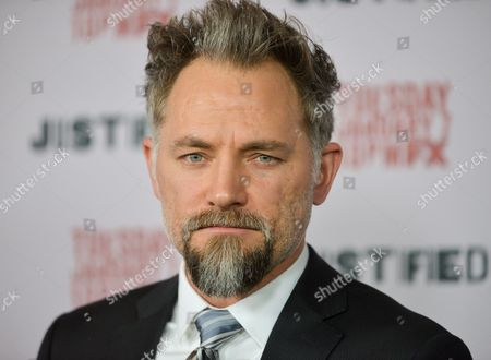 """David Meunier arrives at the LA Premiere Screening of """"Justified"""" at the Directors Guild of America on in Los Angeles"""