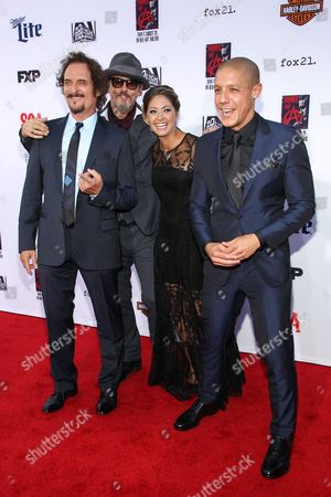 """From left, Kim Coates, Tommy Flanagan, Natalie Skyy, and Theo Rossi attend the LA Premiere Screening of """"Sons Of Anarchy"""" at at TCL Chinese Theatre, in Los Angeles"""