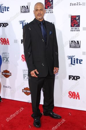 """Stock Image of David Labrava attends the LA Premiere Screening of """"Sons Of Anarchy"""" at at TCL Chinese Theatre, in Los Angeles"""