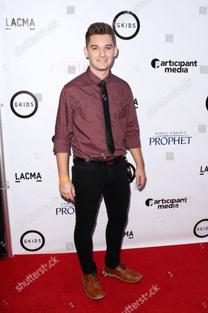 "Stock Image of Ben Stillwell attends the LA Special Screening of ""Kahlil Gibran's The Prophet"" held at LACMA's Bing Theatre, in Los Angeles"