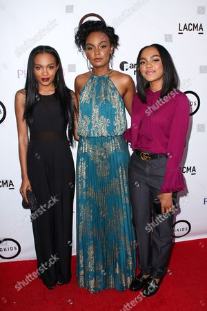 "Stock Photo of Lauryn McClain, from left, Sierra McClain and China Anne McClain attend the LA Special Screening of ""Kahlil Gibran's The Prophet"" held at LACMA's Bing Theatre, in Los Angeles"