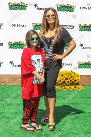 "Bianca Wakelin, left, and Tia Carrere attend a special screening of ""Shaun the Sheep Movie"" at the Regency Village Theatre on in Los Angeles"