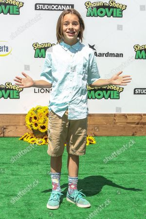 """Mace Coronel attends a special screening of """"Shaun the Sheep Movie"""" at the Regency Village Theatre on in Los Angeles"""