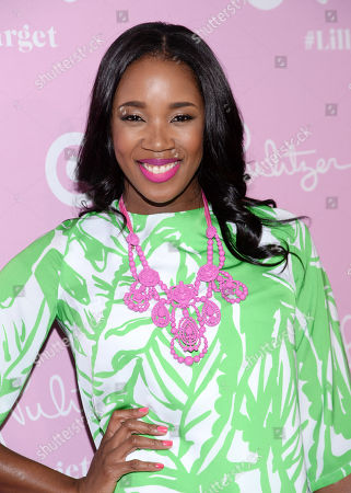 DJ Kiss attends the Lilly Pulitzer for Target launch event at the Bryant Park Grill, in New York