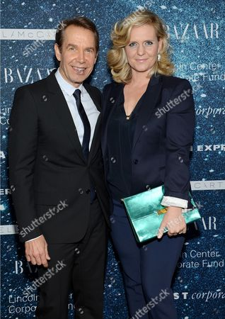 """Artist Jeff Koons and wife Justine Wheeler-Koons attend """"An Evening Honoring Stella McCartney"""" presented by American Express, benefiting the Lincoln Center Corporate Fund, at Alice Tully Hall, in New York"""