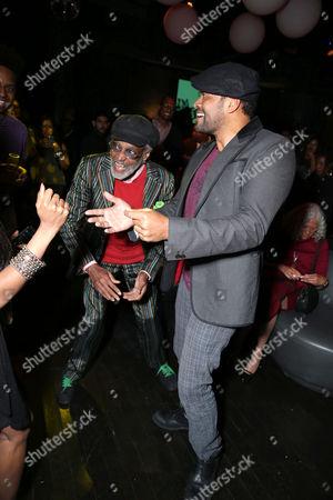 Melvin Van Peebles and Mario Van Peebles arrive at the Lionsgate Los Angeles Premiere of Peeples, on Wednesday, May, 8, 2013 in Los Angeles