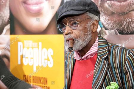 Melvin Van Peebles arrives at the Lionsgate Los Angeles Premiere of Peeples, on Wednesday, May, 8, 2013 in Los Angeles