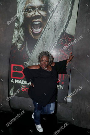 """Cassi Davis seen at Lionsgate Presents the World Premiere of Tyler Perry's """"Boo! A Madea Halloween"""" after party at Lure Nightclub, in Los Angeles"""