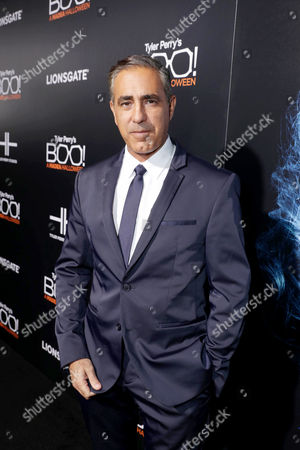 "Producer Ozzie Areu seen at Lionsgate Presents the World Premiere of Tyler Perry's ""Boo! A Madea Halloween"" at ArcLight Cinerama Dome, in Los Angeles"