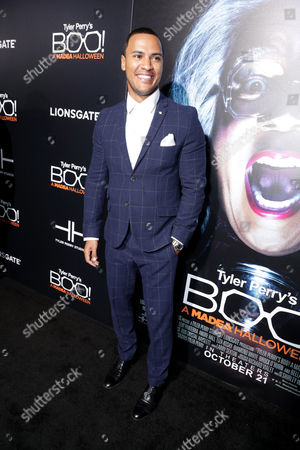 "Andre Hall seen at Lionsgate Presents the World Premiere of Tyler Perry's ""Boo! A Madea Halloween"" at ArcLight Cinerama Dome, in Los Angeles"