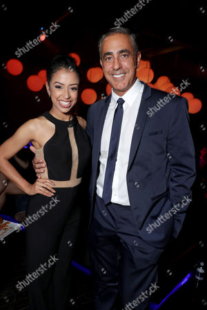 """Liza Koshy and Producer Ozzie Areu seen at Lionsgate Presents the World Premiere of Tyler Perry's """"Boo! A Madea Halloween"""" after party at Lure Nightclub, in Los Angeles"""